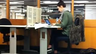 Masturbating in the public office