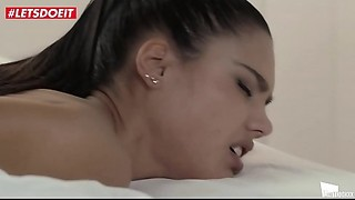 LETSDOEIT - Sexy Dark brown Apolonia Lapiedra Squirts For The 1st Time On Tape (Lucky..