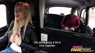 Female Fake Taxi Spanish fellow copulates the blond taxi driver