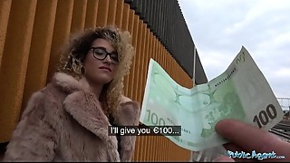 Public Agent Spanish shaven bawdy cleft screwed outdoors in public
