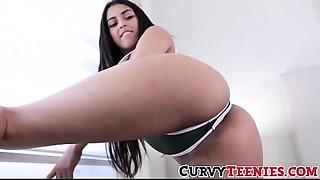 Latin babe 18yo Sophia Leone exercises cum-hole with large schlong