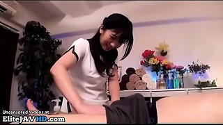 Japanese gal gives incredible massage