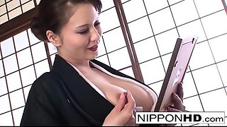 Slutty Japanese gal plays with herself
