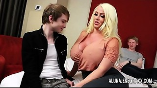 Cuckold trio with large tit pornstar Alura Jenson