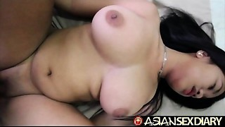 Exotic Sex Diary - Juvenile Exotic with massive consummate love muffins receives drilled