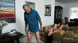 BLUE PILL Chaps - We Receive Grandpa Johnny An Escort (Aria Rose) To Fulfill His..