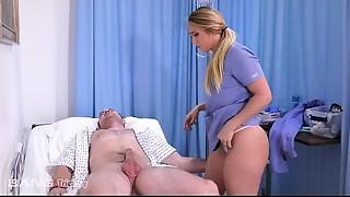 Trickery - Perfect ass white girl AJ Applegate has sex on the job