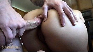 SILENT Anal invasion with parents in the other room! ( quiet!! )