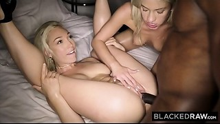 BLACKEDRAW 2 Blondes Wish Huge black meat All Day and Night