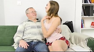 Tricky Mature Teacher - Student takes teacher'_s schlong from throat to booty