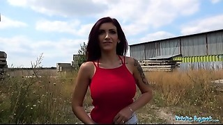 Public Agent Big breasted large zeppelins and full oral-stimulation lips hot public bang