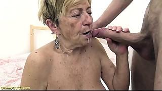 hawt 90 years elder old bitch receives coarse drilled