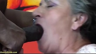 curly Eighty years older old bitch 1st interracial