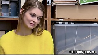 Breasty Blond Russian Teenie Thief Nadya Nabakova Drilled By Corrupt Store Officer