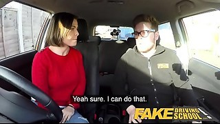 Fake Driving School Jealous learner with great breasts craves hard fucking
