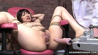 Bound up Japanese pornstar Shiori Natsumi smashed with marital-devices