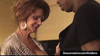 Sexy Elder Milf Deauxma Receives Fucked By A Large Dark Cock!