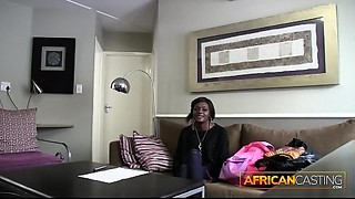 African Cutie Licks Booty for a Job