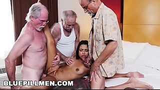 BLUE PILL Guys - 3 Mature Chaps And A Latin Lady Named Nikki Kay