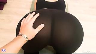Large Gazoo with Leggings, POV Fellatio and Sex - Cristall Gloss
