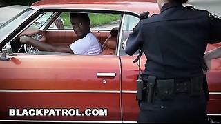 Ebony PATROL - I will catch those thugs and engulf their large ebony dicks