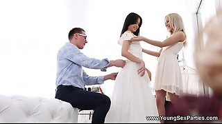 Juvenile Sex Parties - Suit fitting and a threeway Stefy Shee, Michelle Can