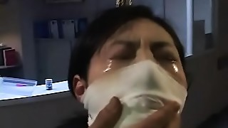 Filthy asian hooker Arimi Mizusaki is all tied up, gagged and whipped until she cries.WMV