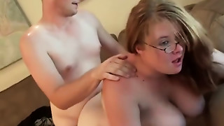 YouPorn   Fat non-professional girlfriend sucks and copulates at home