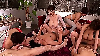 JAV Big Boobs Orgy