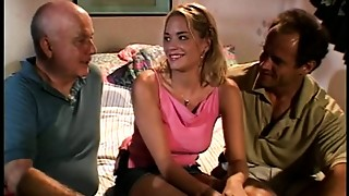Elder dude watches his hawt golden-haired wife take hard shlong doggy style