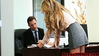 Bigtit secretary doggystyled by her boss
